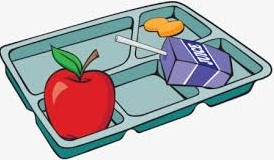 Clip Art School Lunch Tray with Apple and Juice Box