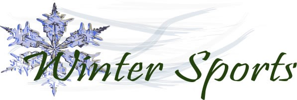 Banner with Snow Flake that says Winter Sports