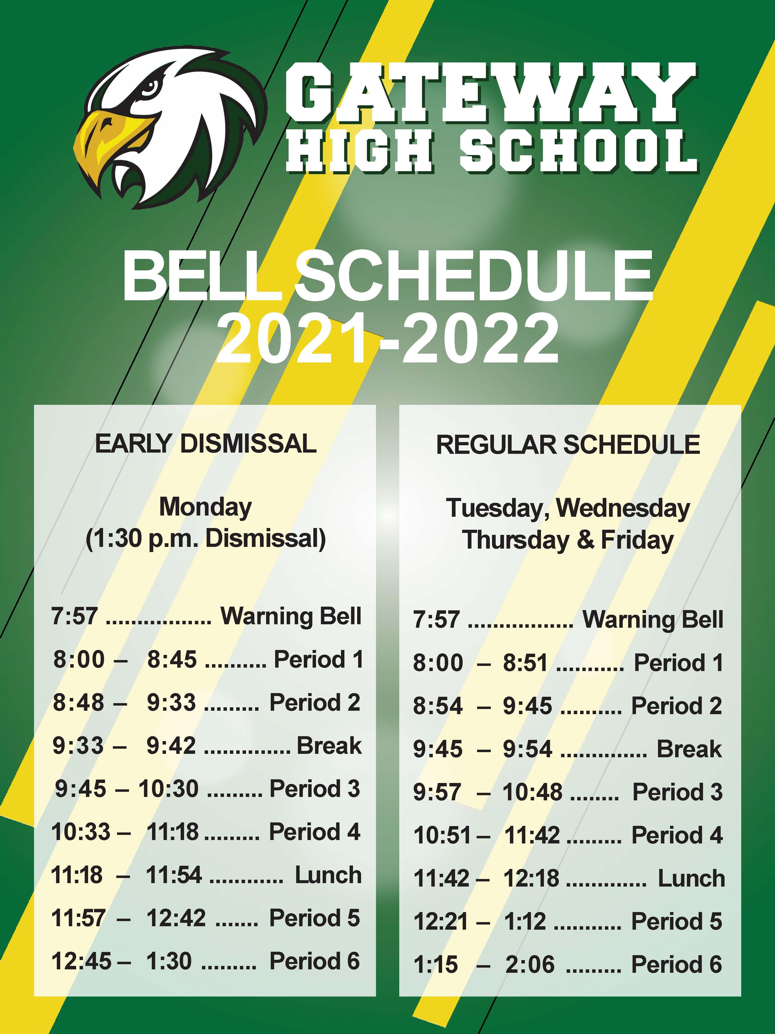 21.22 Bell Schedule