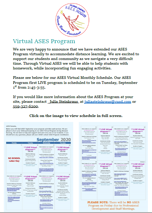Flyer for Ases with schedule