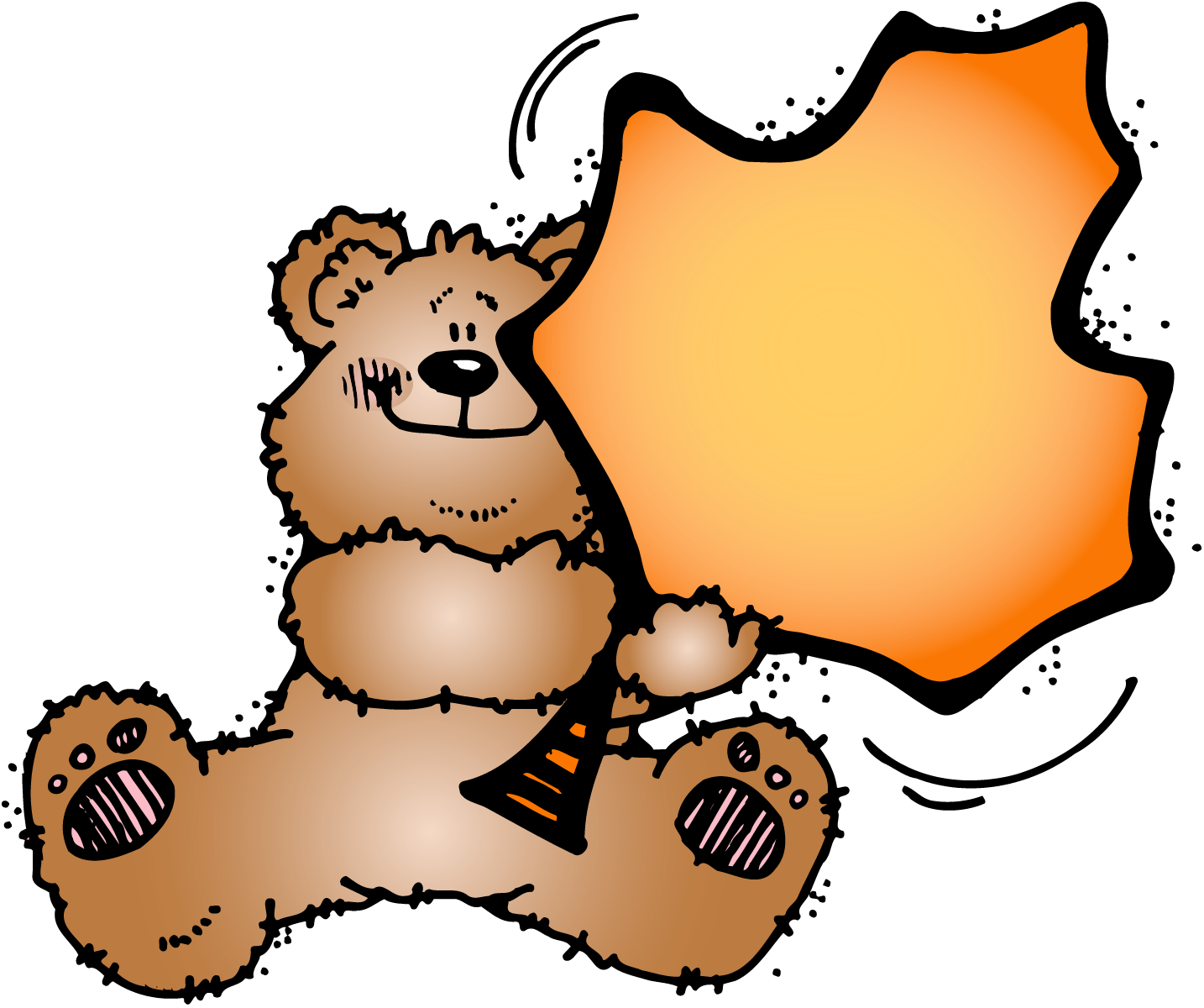 Bear with a leaf