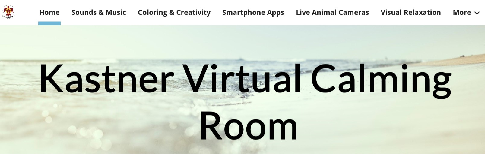 Photo of front page of Virtual Calming Room