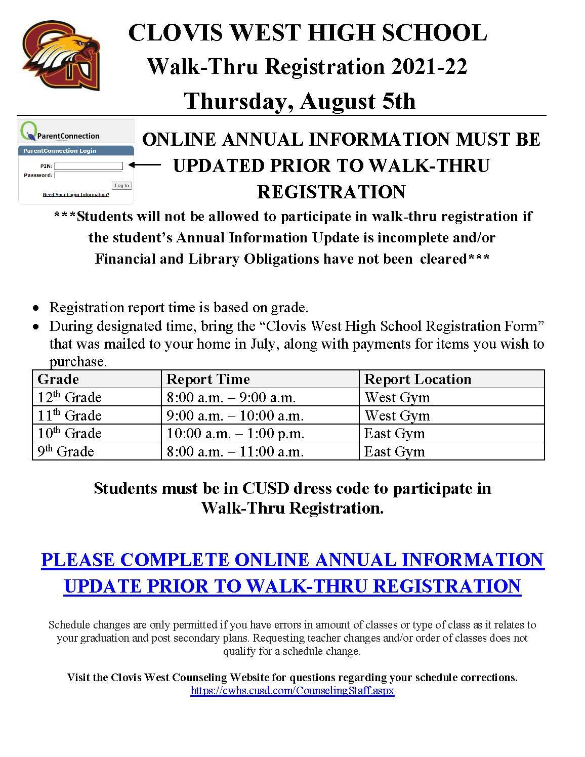 Walk-Thru Registration