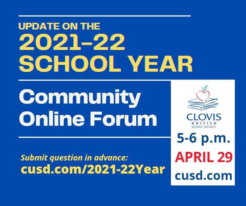 21-22 School Year Online Forum