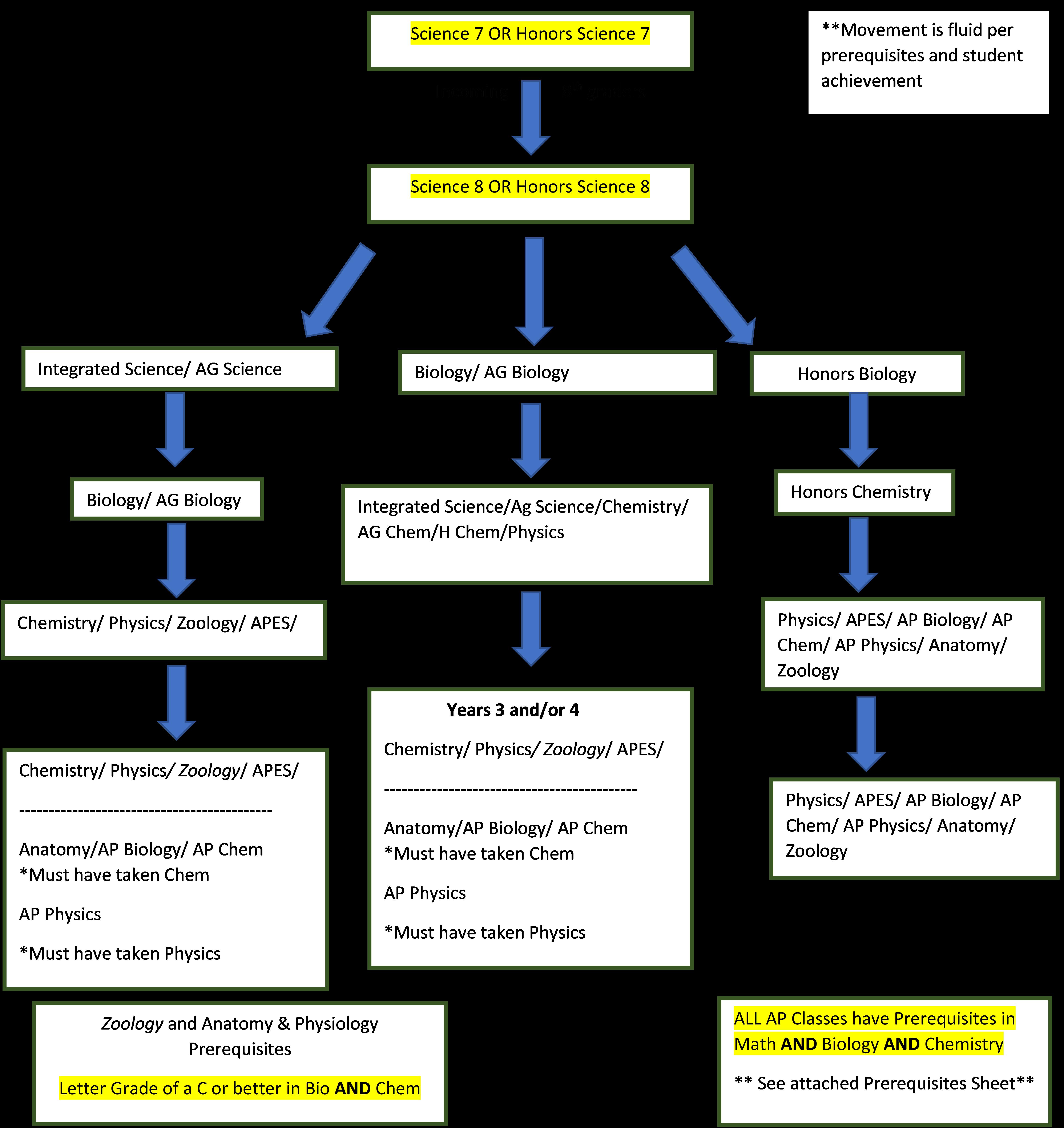 Science Pathways Flowchart