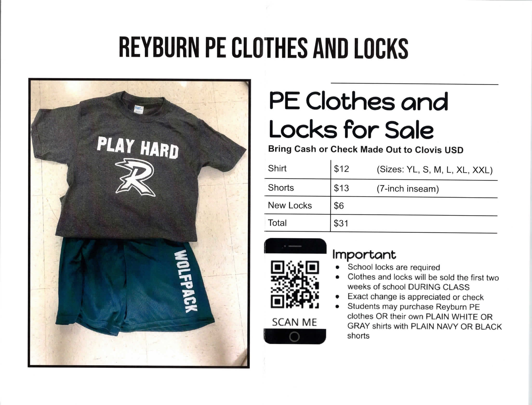 PE Clothes Flyer