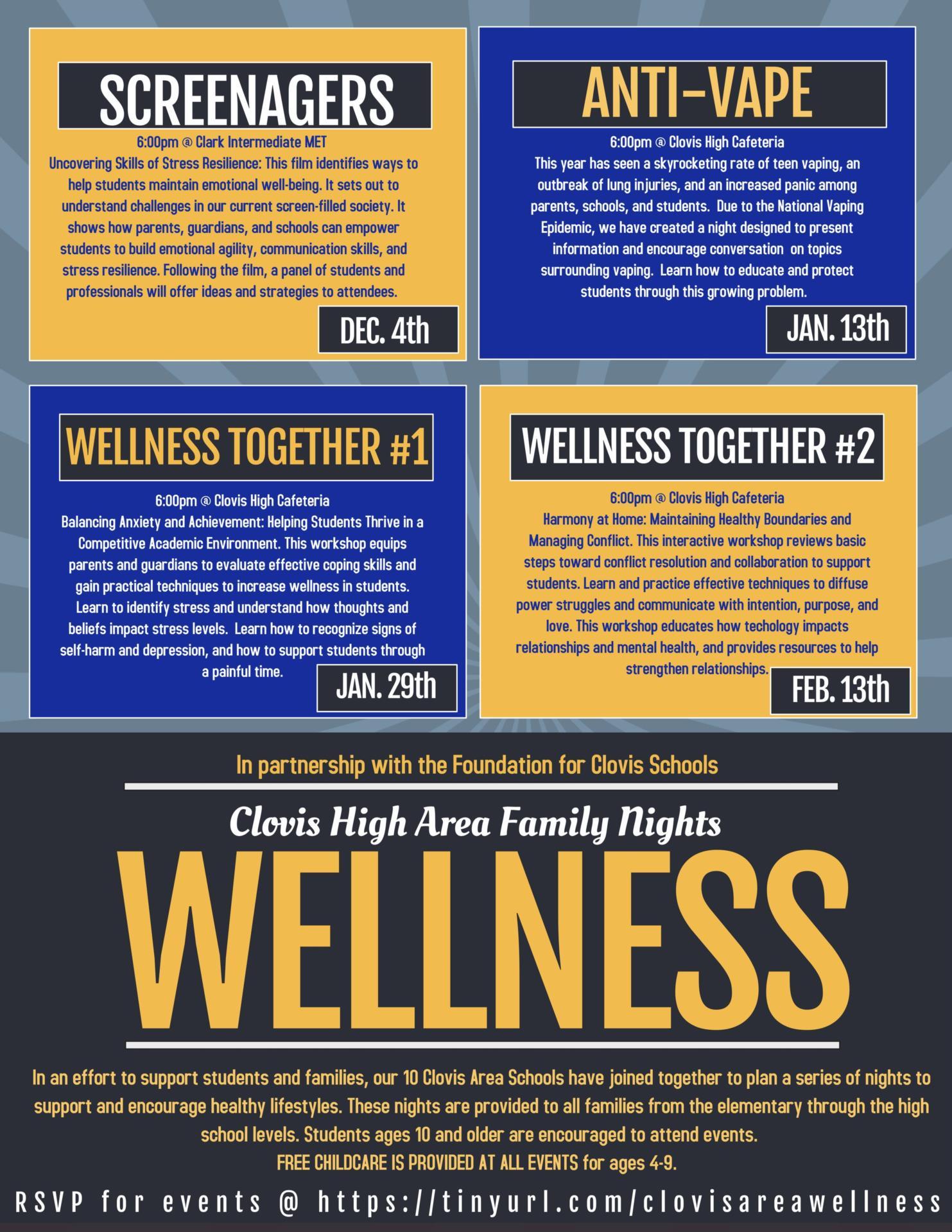 Clovis Area Wellness Nights Flyer