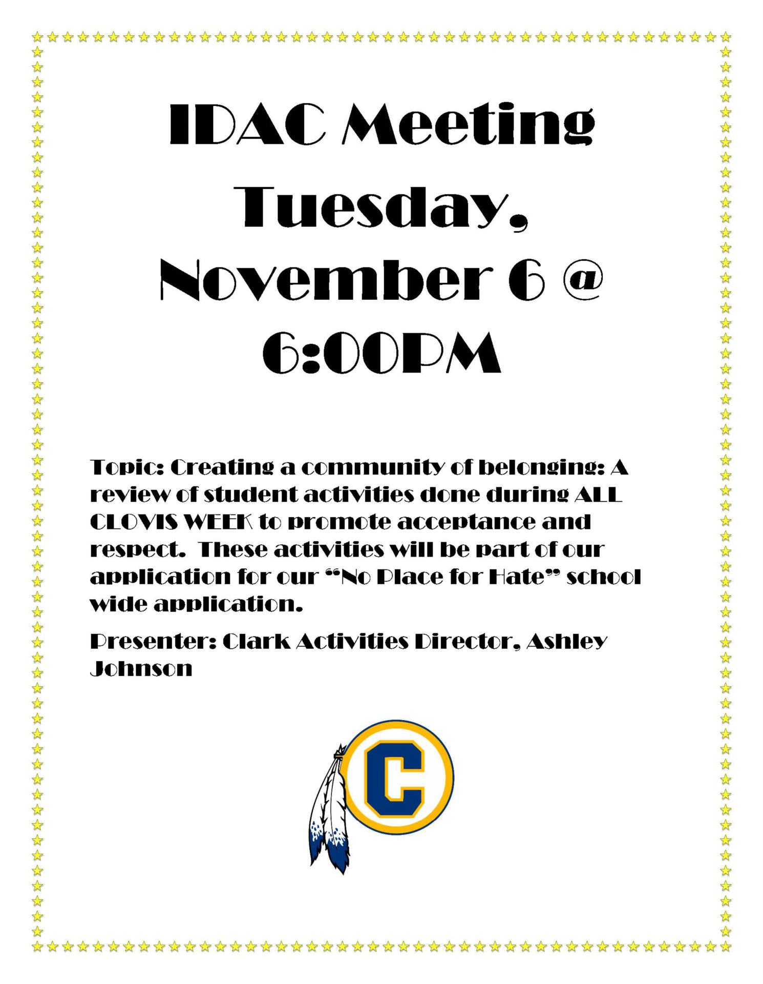 IDAC Meeting Nov 6