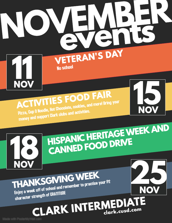November Events Poster