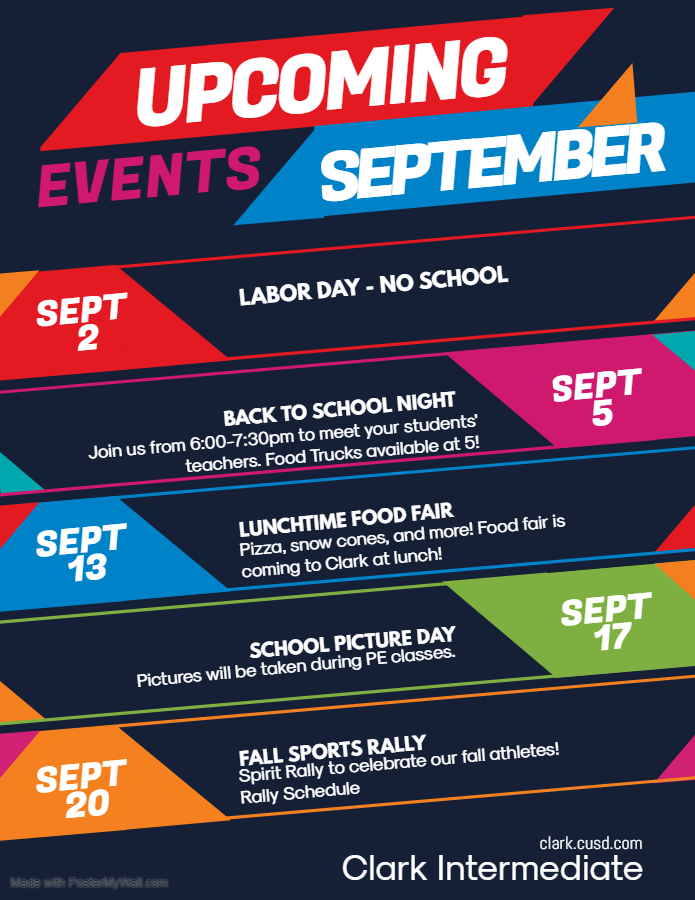 September Events Flyer