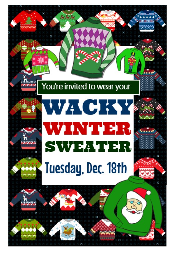 Wacky Winter Dwater Day Flyer