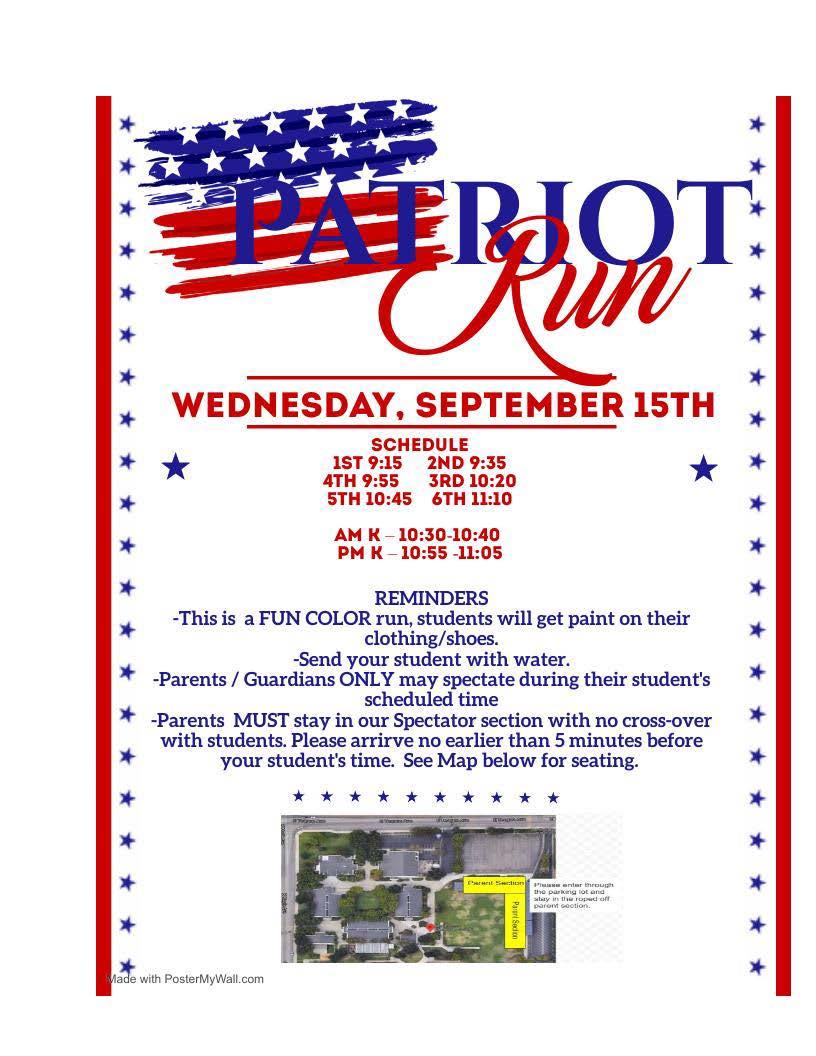 Patriot Run Info