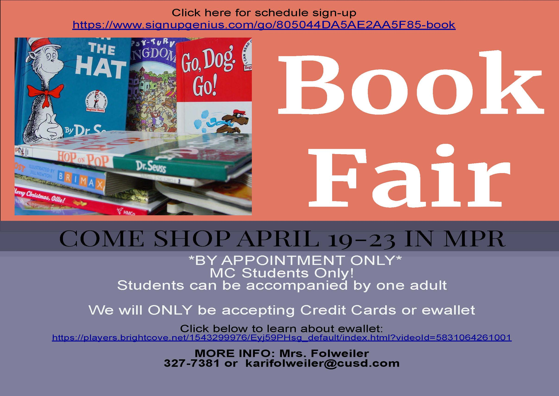 Info for Book Fair April 2021