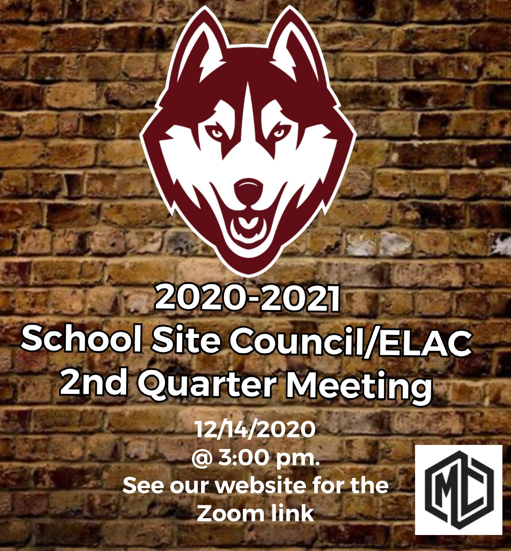 2020-21 School Site Council/ELAC Details above