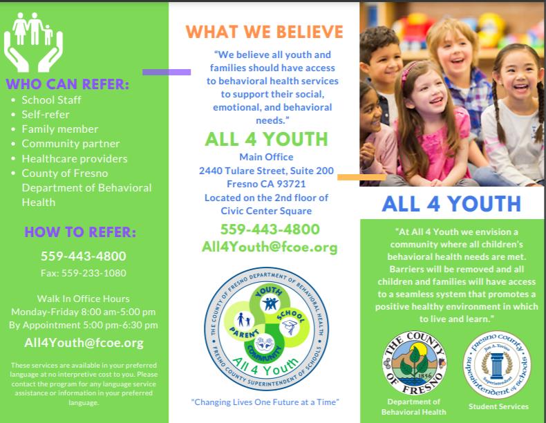 all 4 youth logo