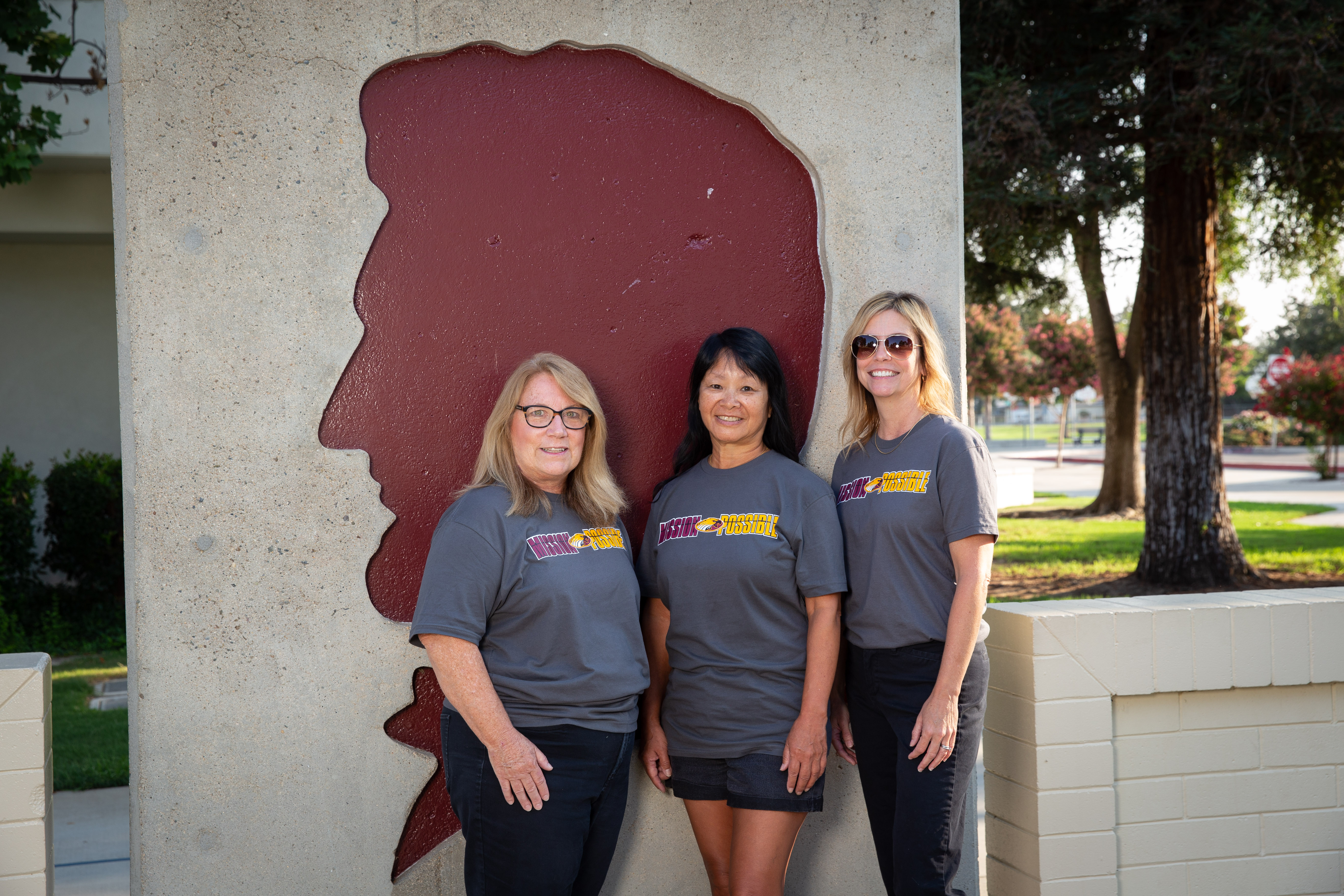 Office staff  Debbie Cobb, Sue Hirata, and Tracey Cameron