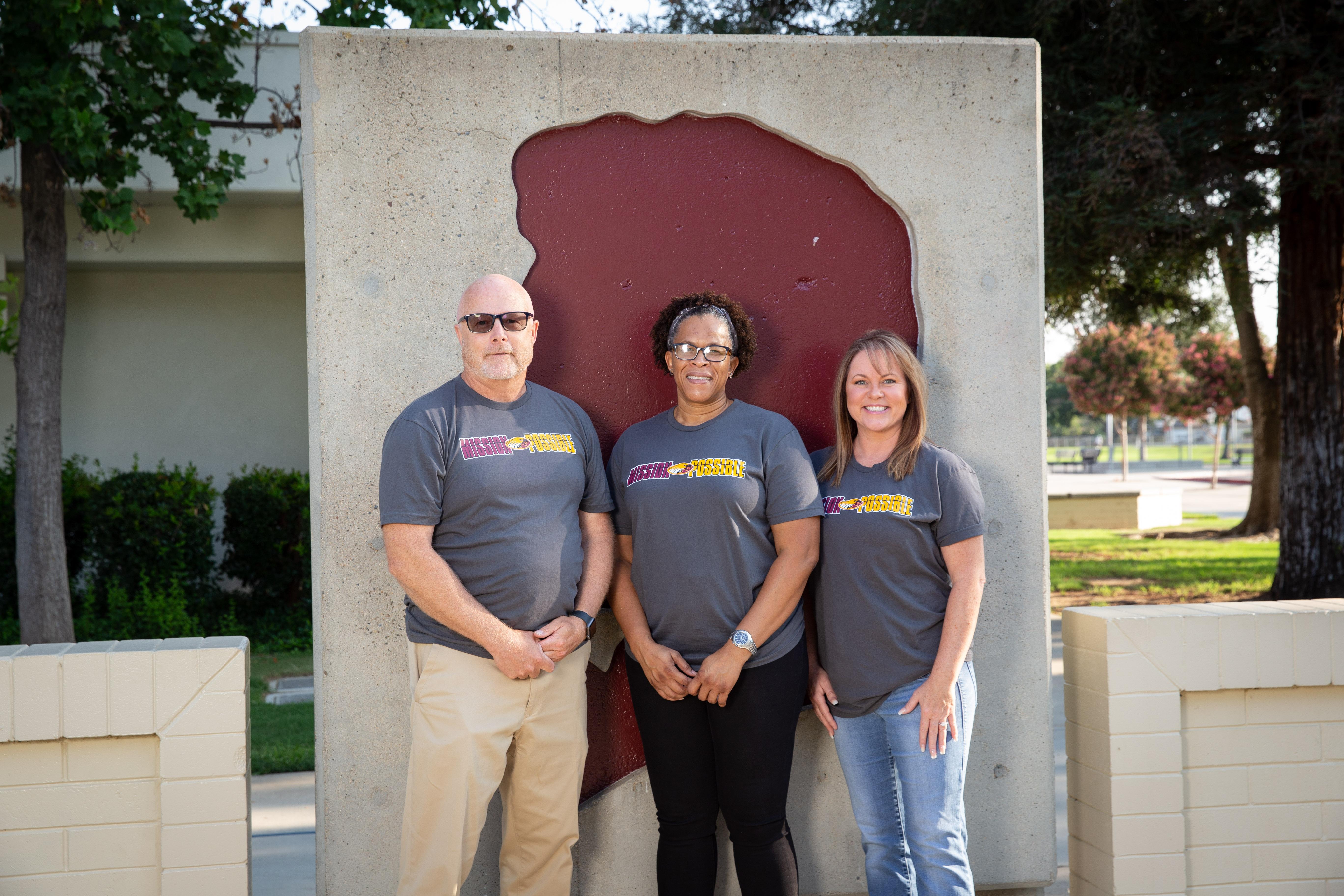 School administrators Matt Verhalen, Celia Willis, and Rachelle PIrok