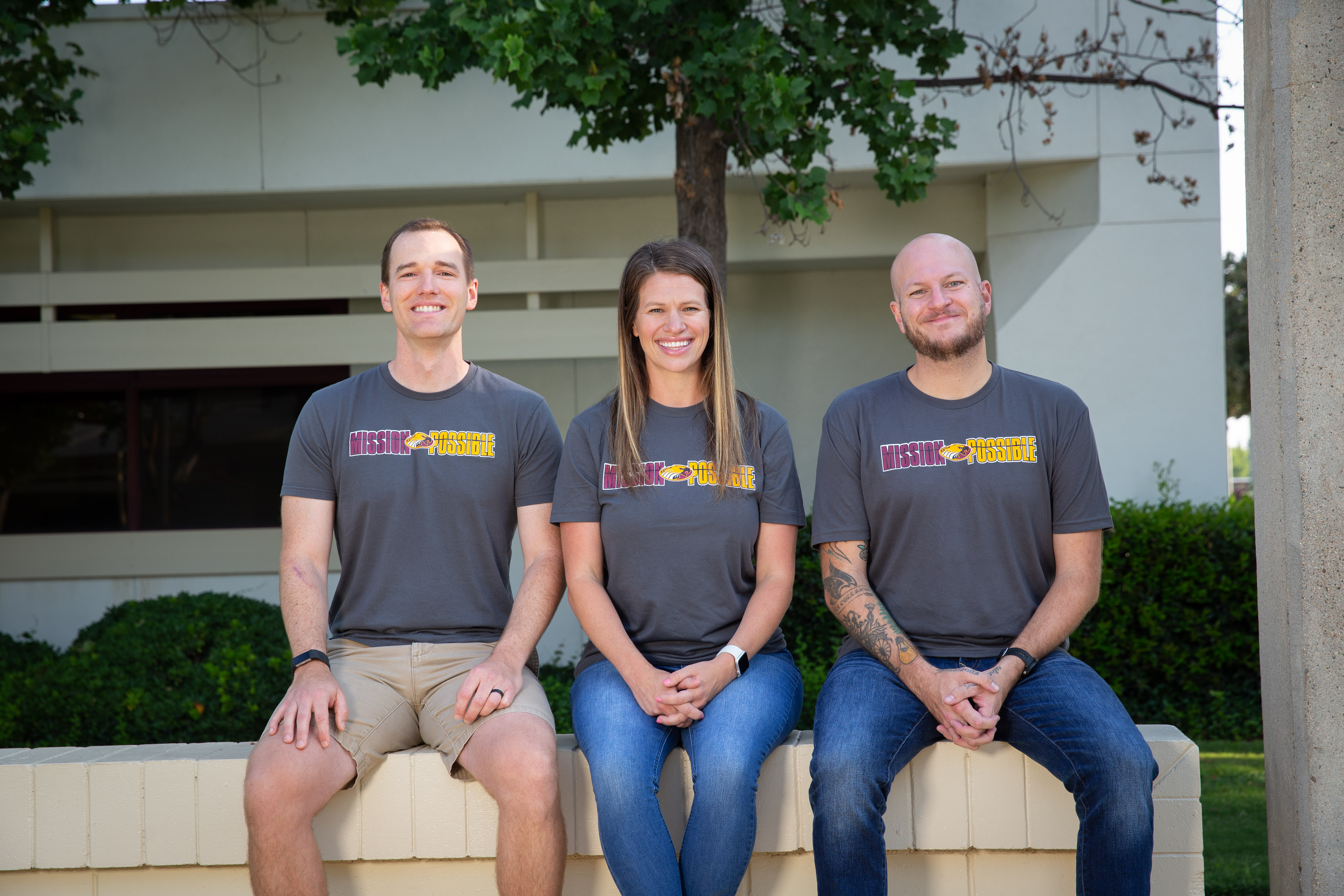 Third grade teachers Micah Haury, Carrie Kiser, and Joel Stetler