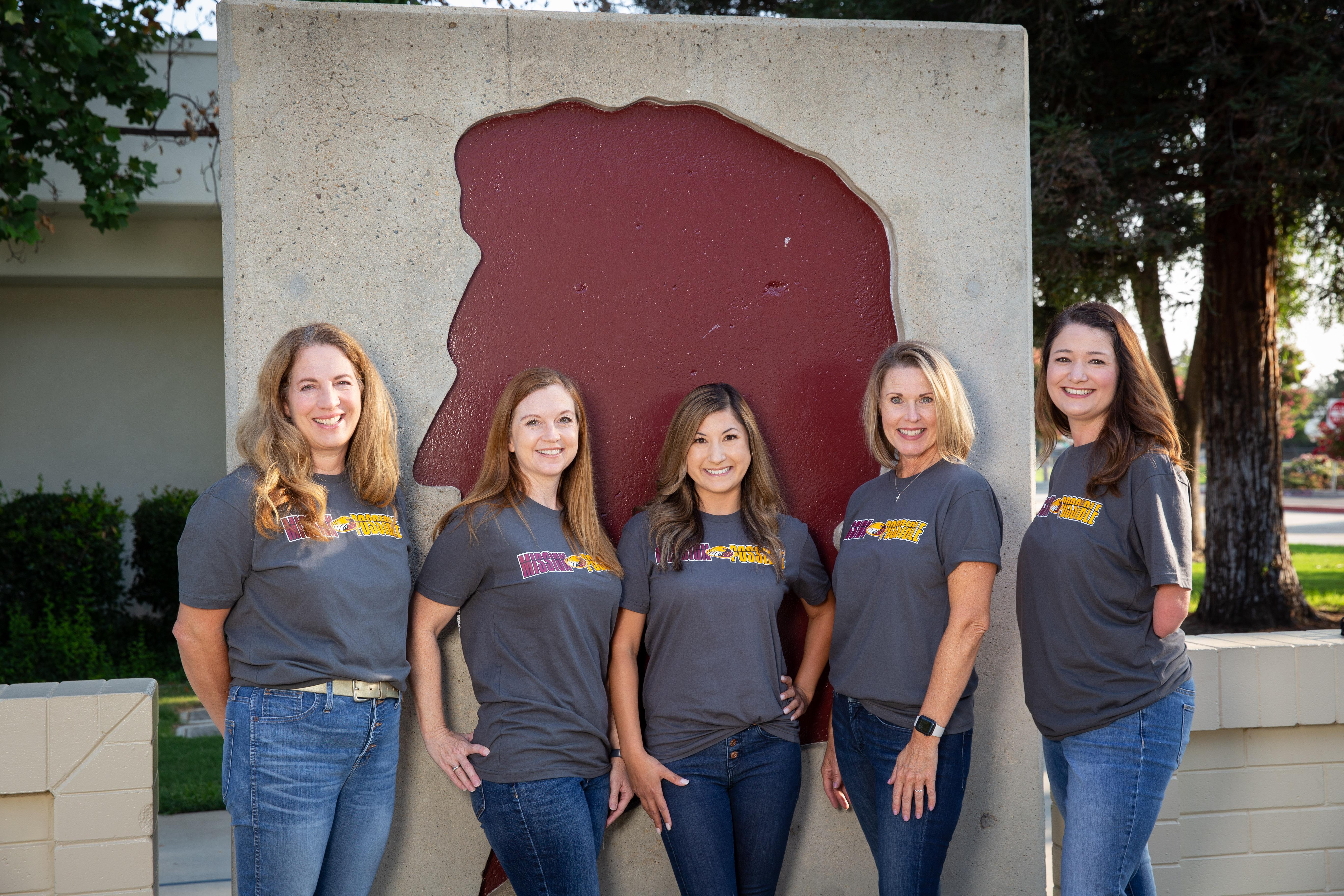 First grade teachers Sherri Rinehart, Laura Cook, Rachel Richards, Melissa Howard, and Jenny Chavera