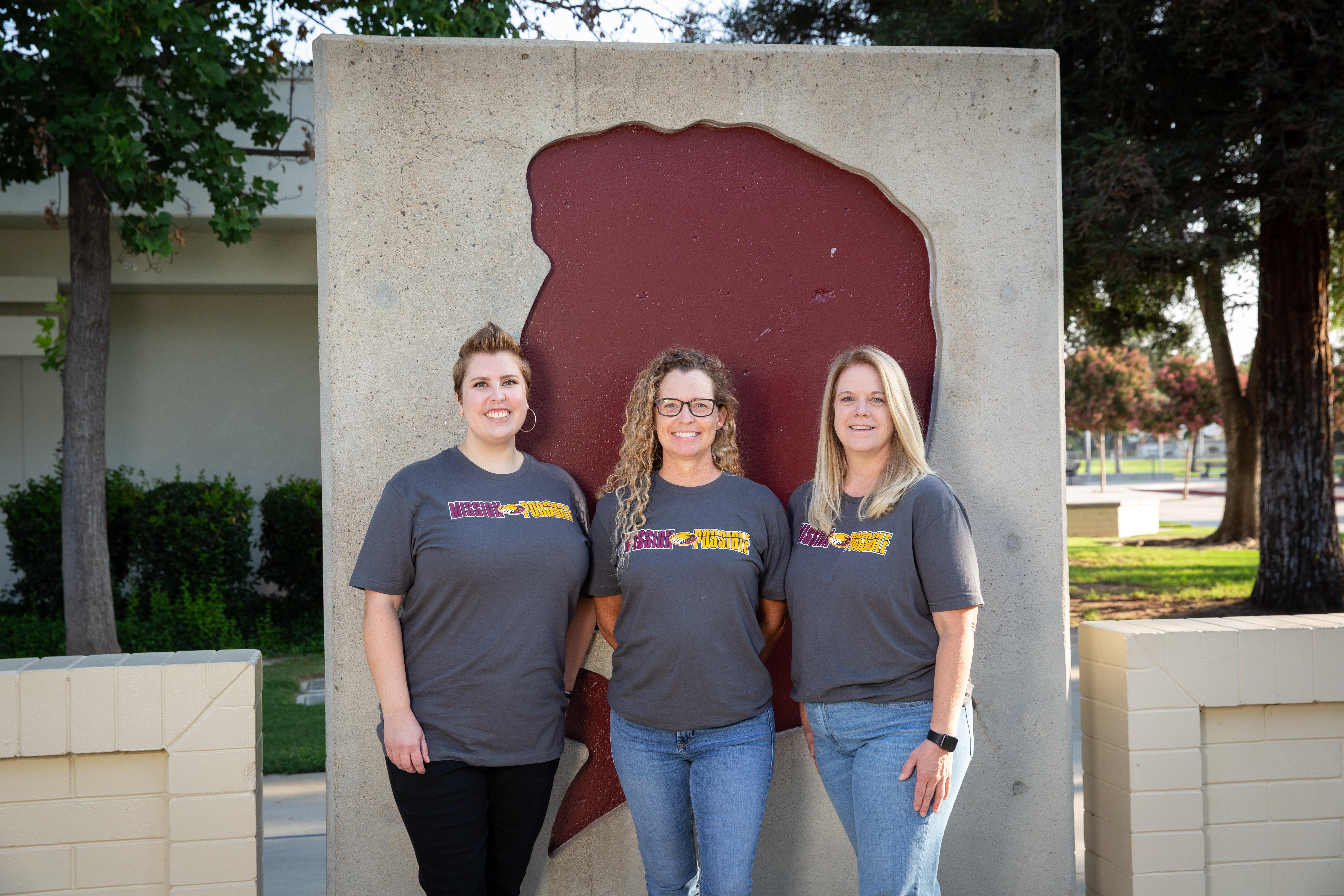 Fifth grade teachers Amanda Kehler, Elyssa McCoy, and Laura Mayer