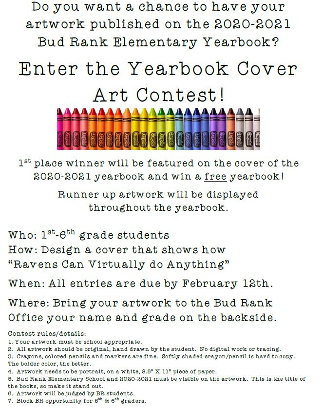 Yearbook Cover Contest flyer-for more information click the link above.