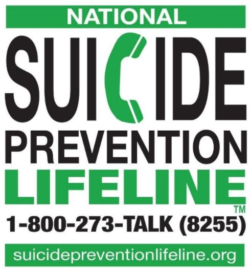 National Suicide Prevention Lifeline 1-800-273-8255picture