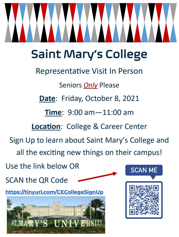 Saint Mary's College Flyer
