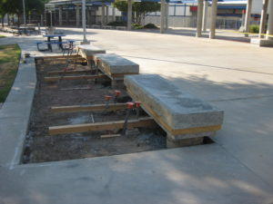 Amphitheater Seating Bench