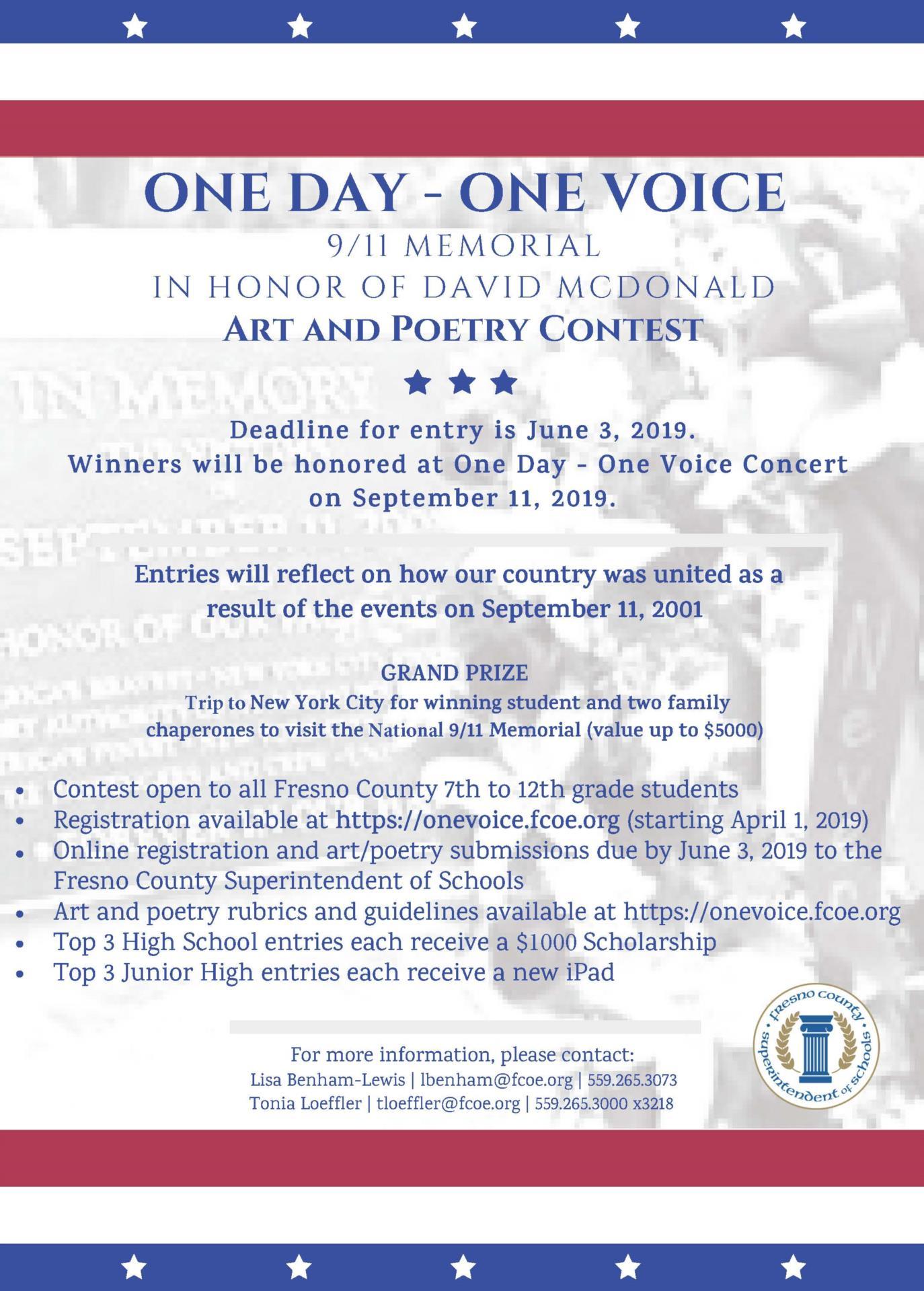 One Voice flyer