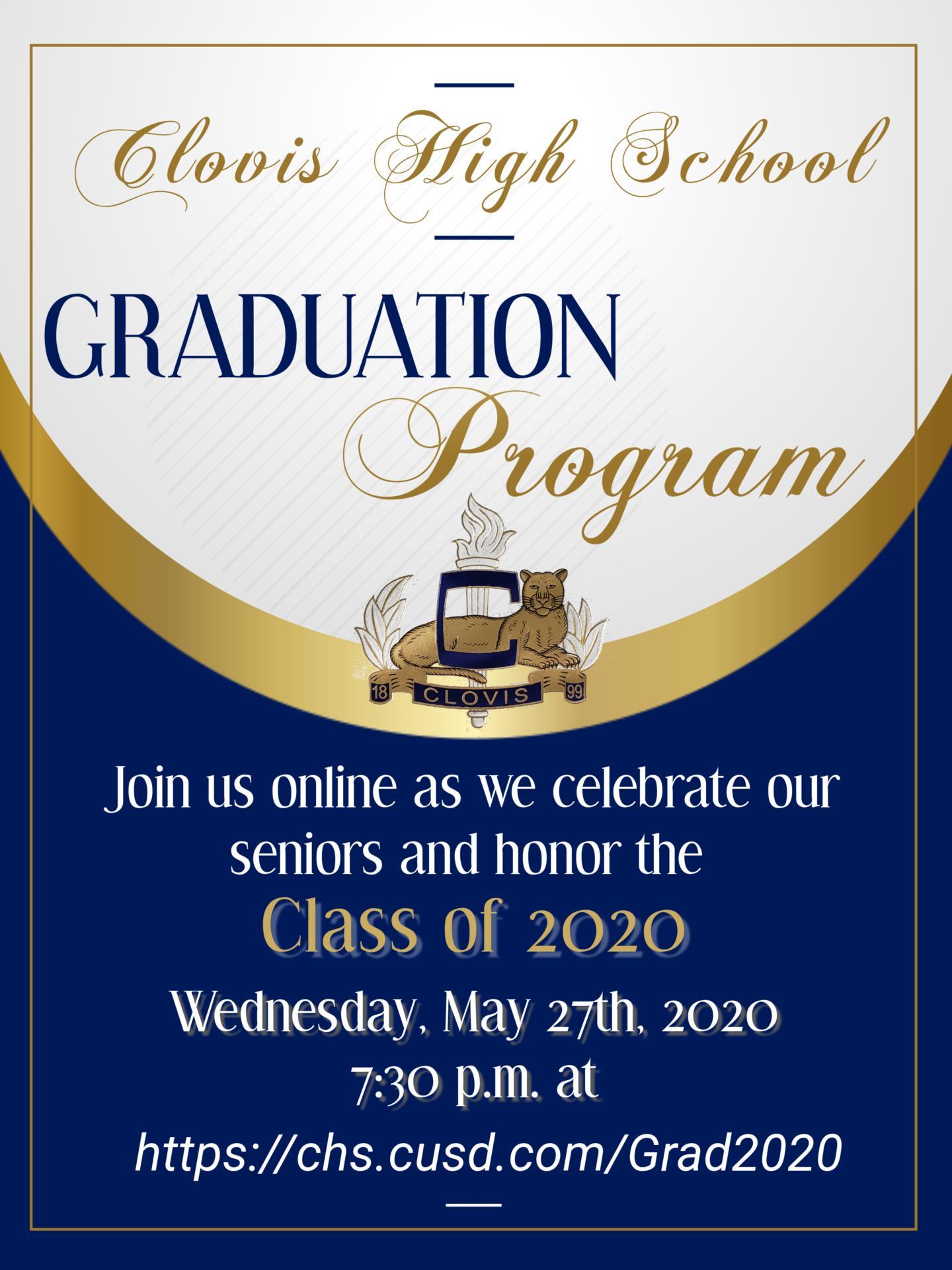 Online Graduation Program Invite