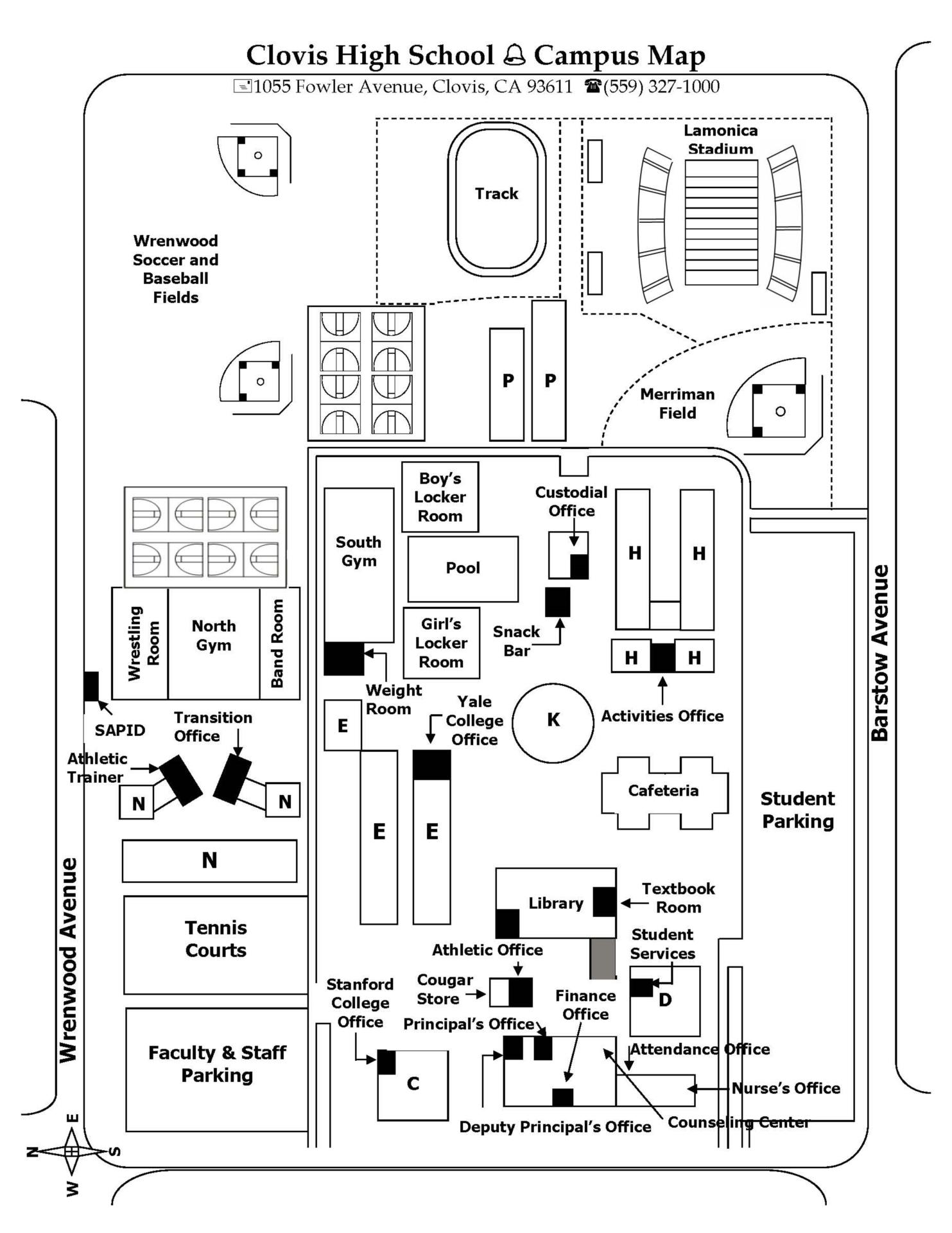 Map of CHS Campus