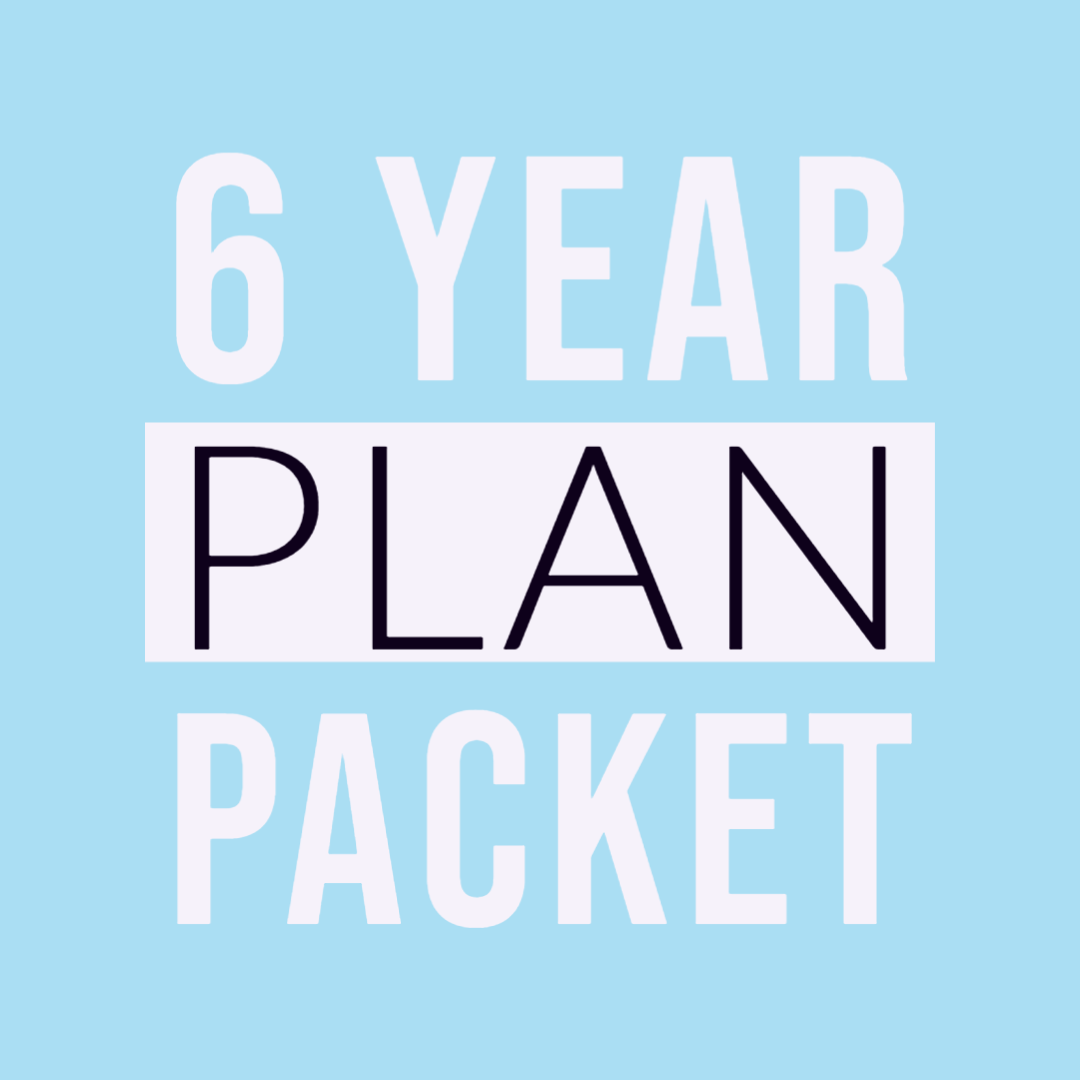 6 year plan packet