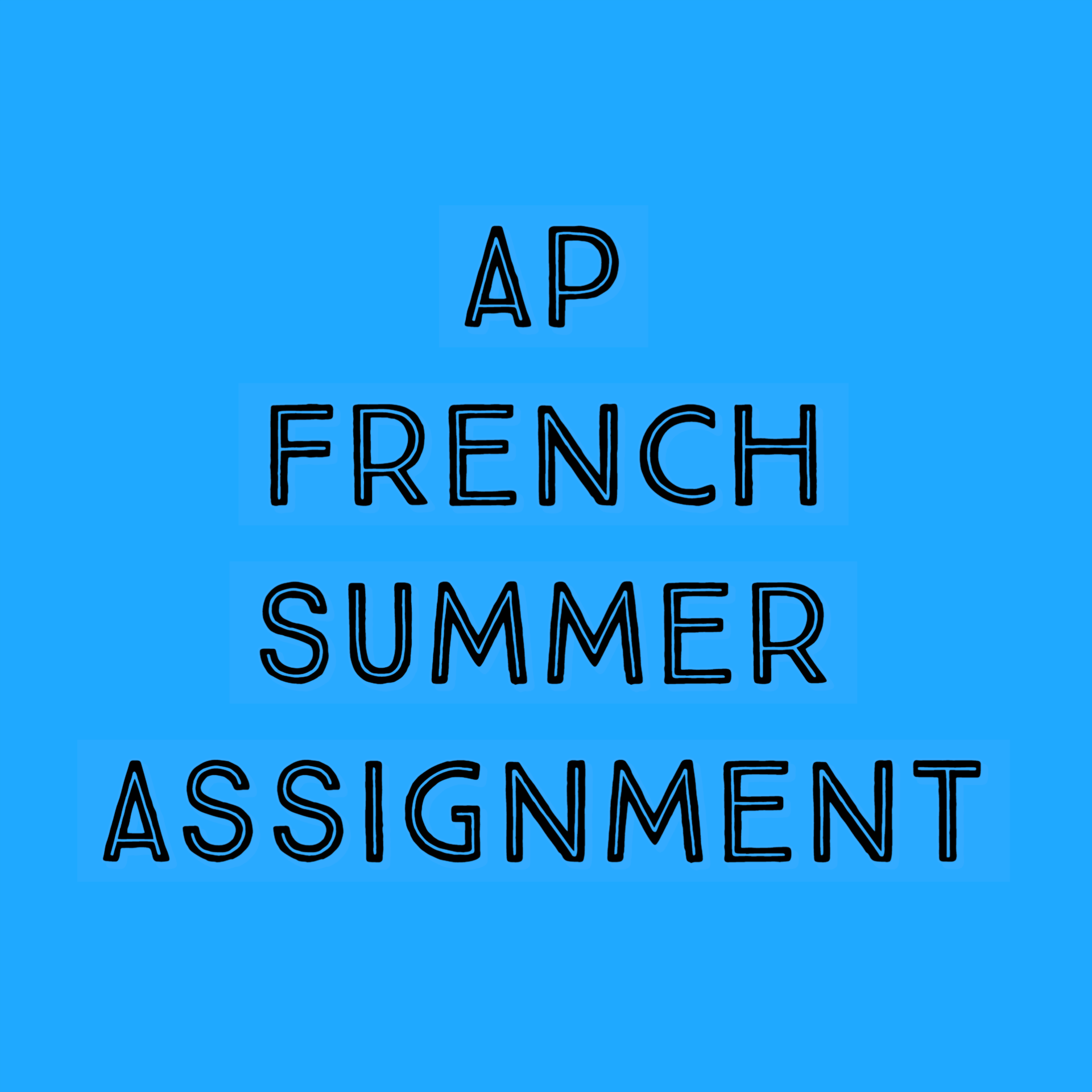 AP FRENCH SUMMER