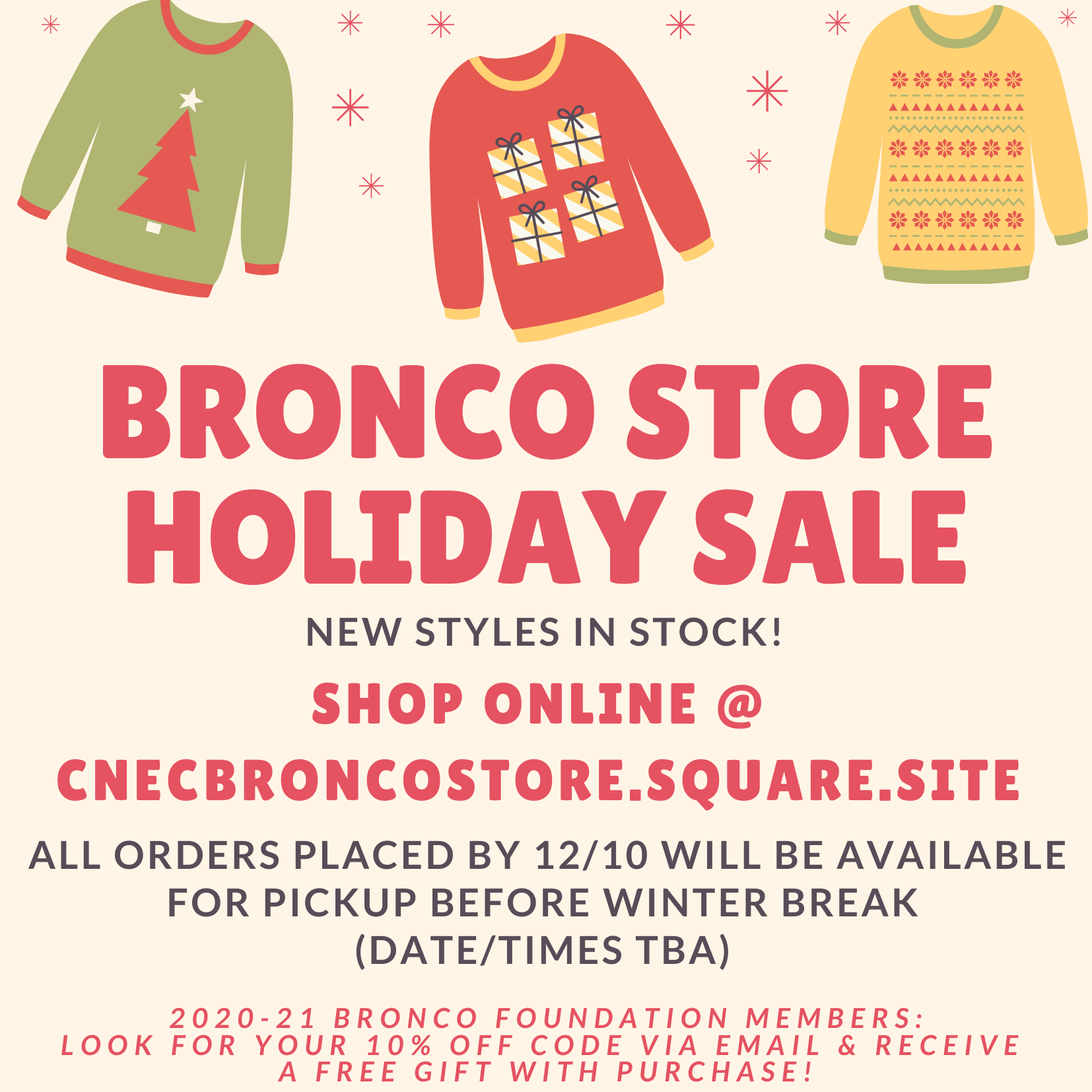 Bronco Store Holiday Sale