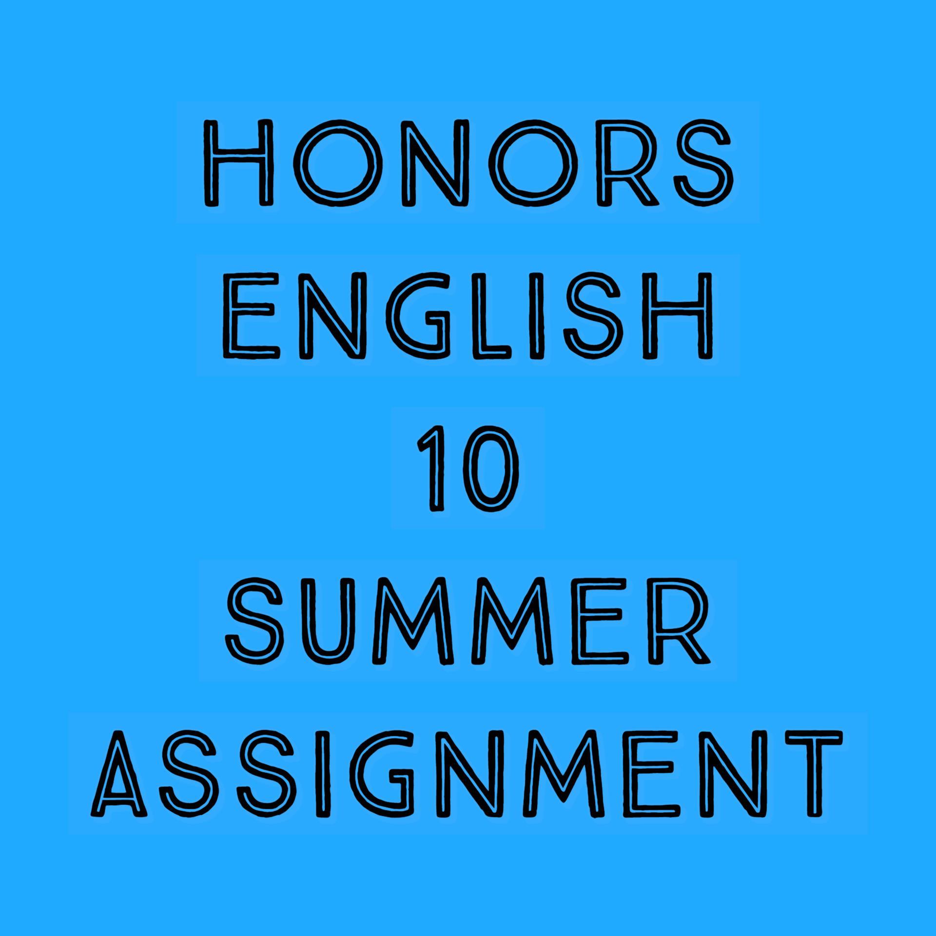 HONORS ENGLISH 10