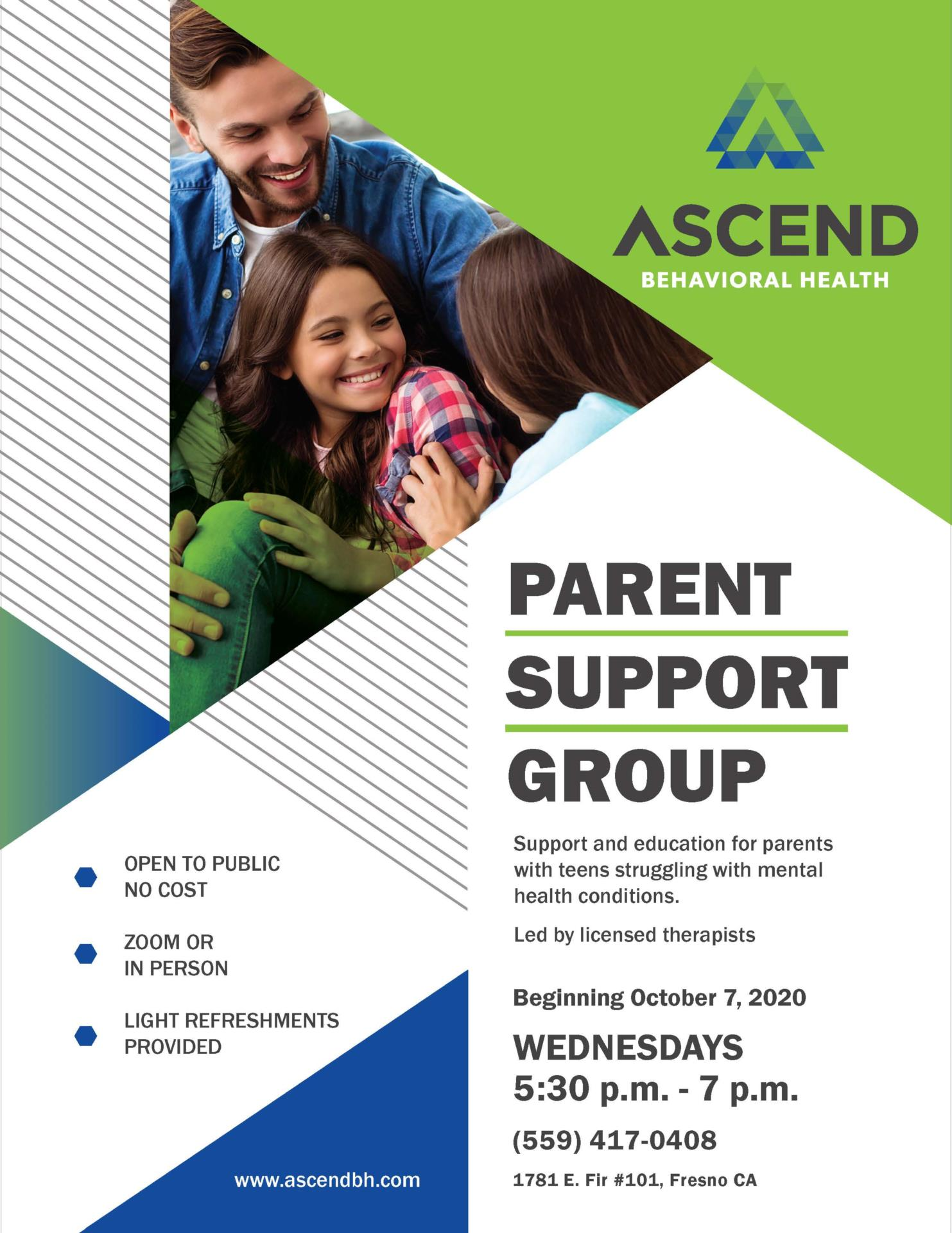 Parent support flyer