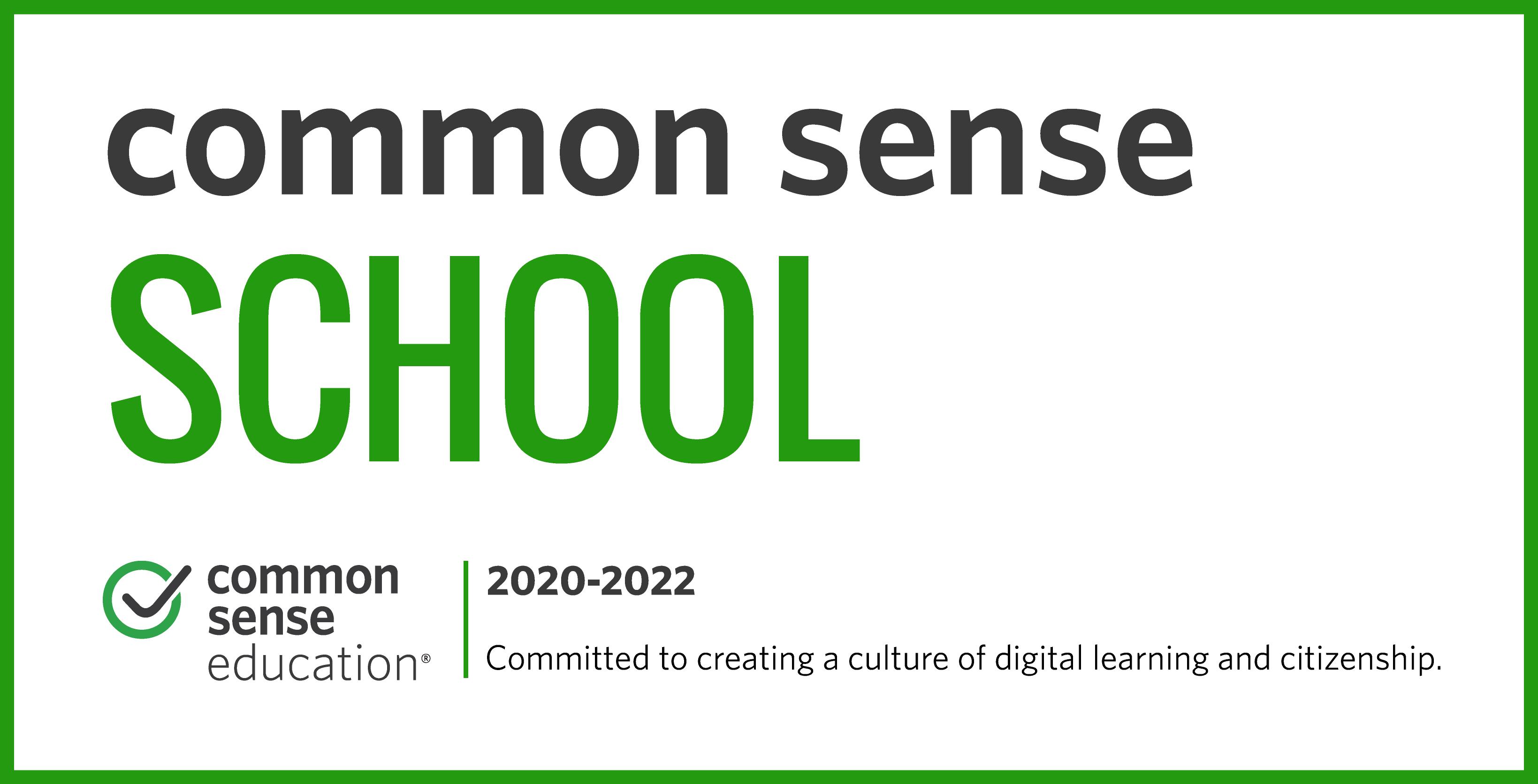 Common Sense School 2020-2021 Logo