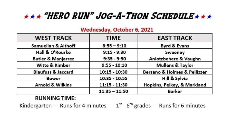 jog-a-thon schedule - full file downloadable below in pdf and rtf