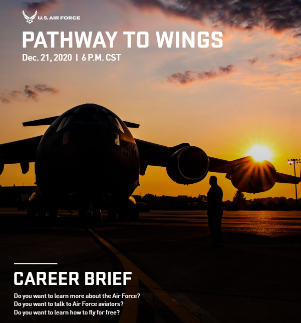 Pathway to Wings flyer for airforce