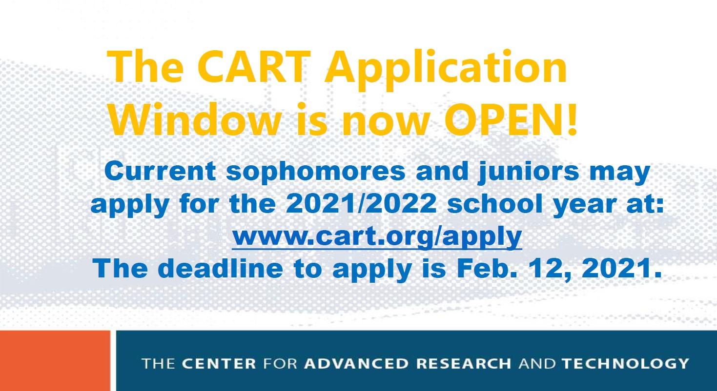 CART Application Window is Open