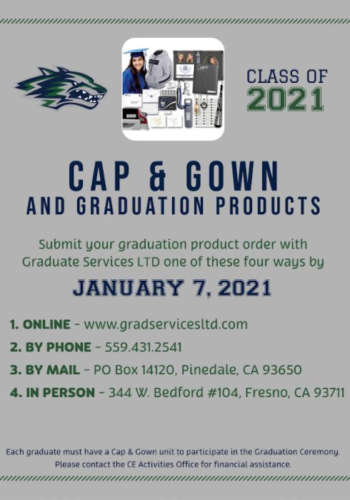 Order your Cap and Gown by visiting gradservicesltd.com